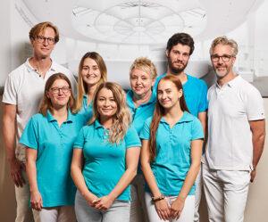 Team der Praxis VIMOS – Orthopädie am Schloss